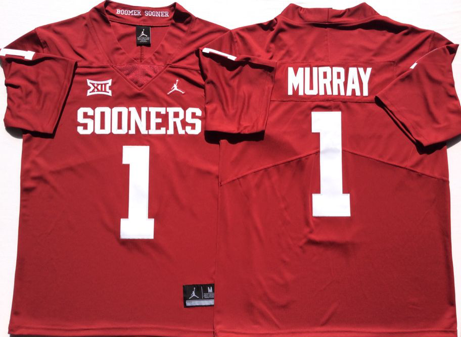 NCAA Men Oklahoma Sooners Red 1 MURRAY