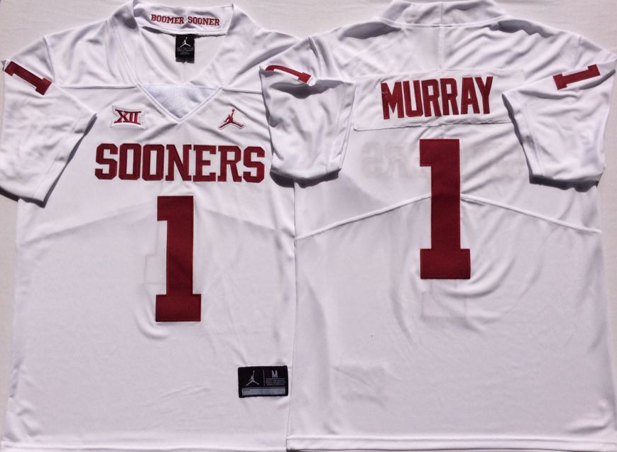 NCAA Men Oklahoma Sooners White 1 MURRAY