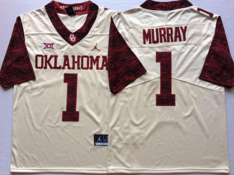 NCAA Men Oklahoma Sooners White Limited 6 MAYFIELD