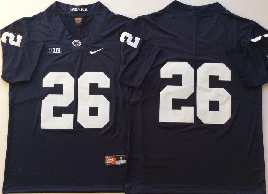 NCAA Men Penn State Nittany Lions Blue 26 BARKLEY
