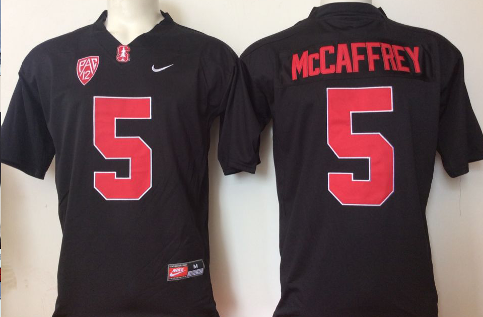 NCAA Men Stanford Cardinals Black 5 Mccaffrey