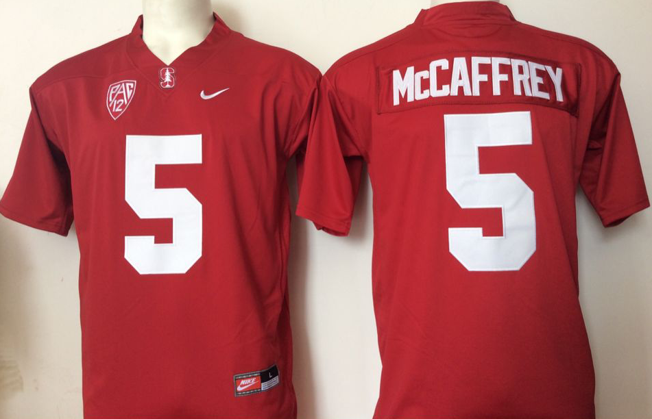 NCAA Men Stanford Cardinals Red 5 Mccaffrey