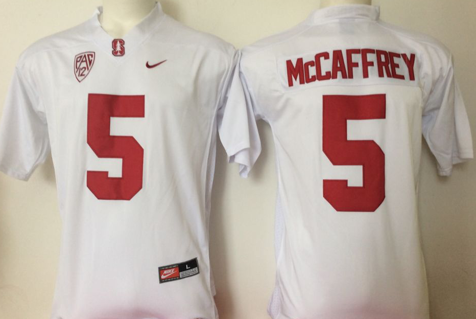 NCAA Men Stanford Cardinals White 5 Mccaffrey