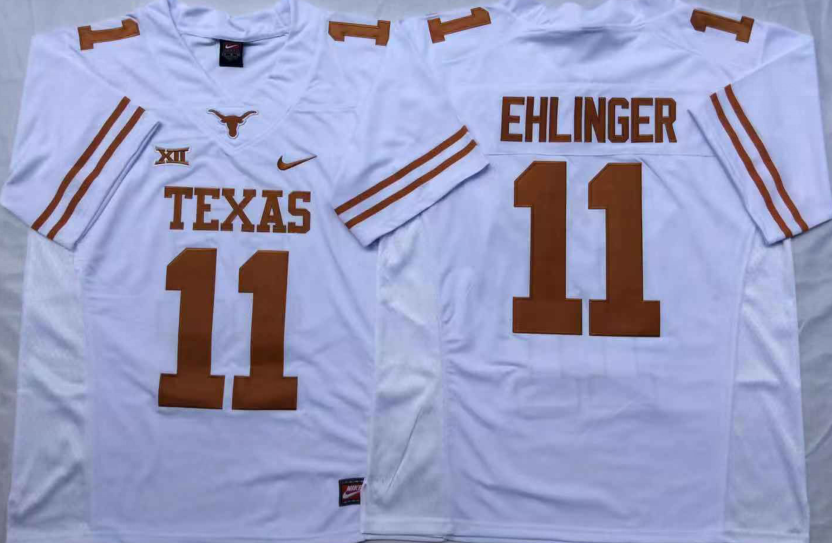 NCAA Men Texas Longhorns White 11 EHLINGER