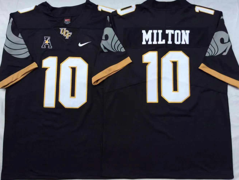 NCAA Men UCF KNIGHTS Black 10 MILTON