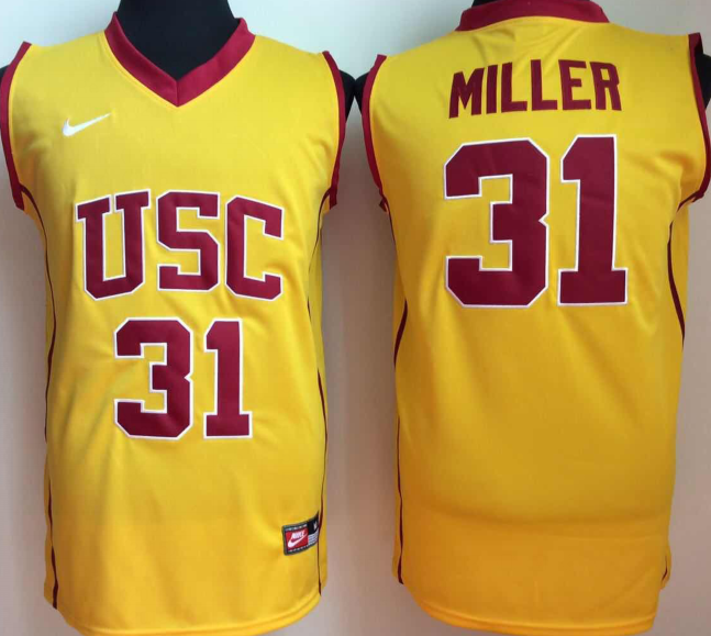 NCAA Men USC Trojans YELLOW 31 miller
