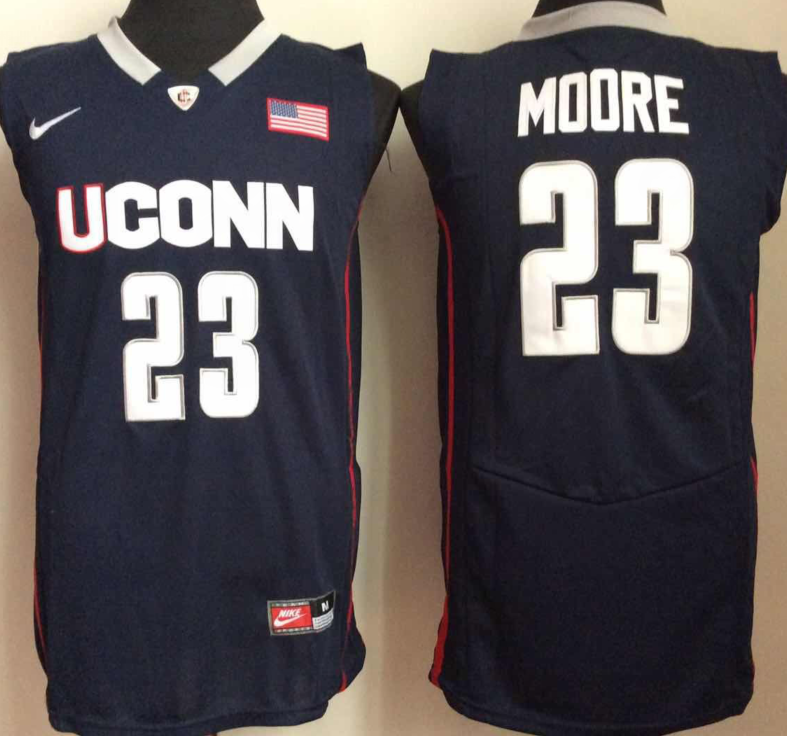 NCAA Men Uconn Huskies 23 moore Blue