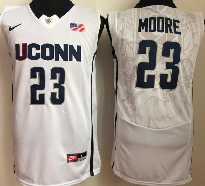 NCAA Men Uconn Huskies 23 moore White