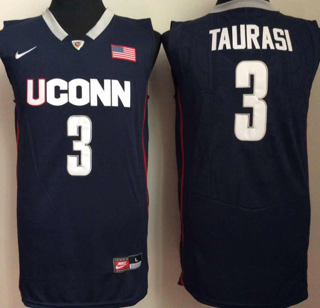 NCAA Men Uconn Huskies 3 taurasi Blue