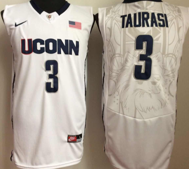 NCAA Men Uconn Huskies 3 taurasi White