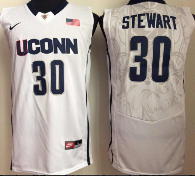 NCAA Men Uconn Huskies 30 White