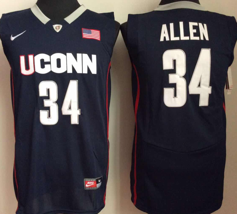 NCAA Men Uconn Huskies 34 Blue