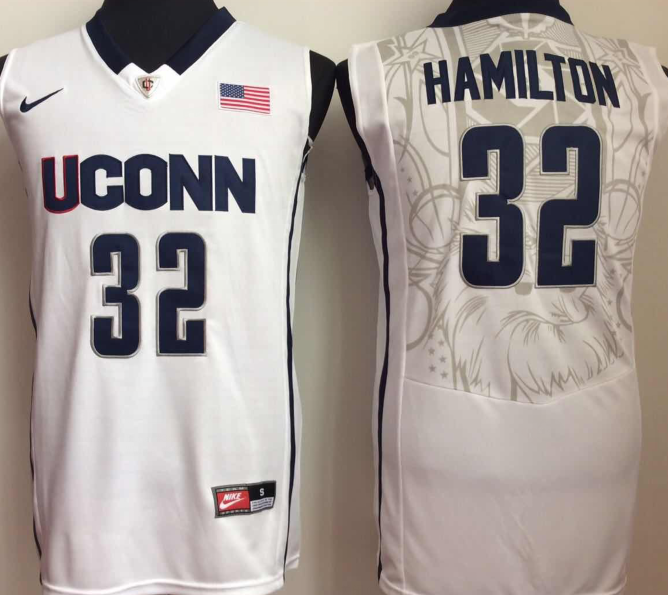 NCAA Men Uconn Huskies White 32 hamilton