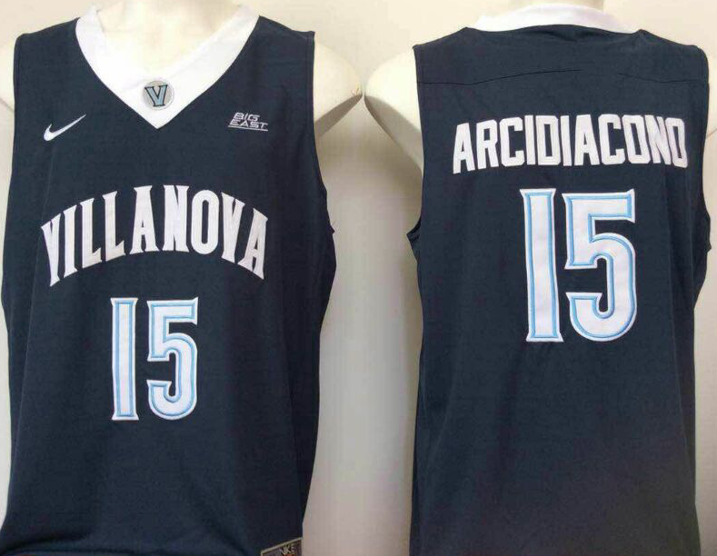 NCAA Men Villanova Wildcats Blue 15 Arcidiacond