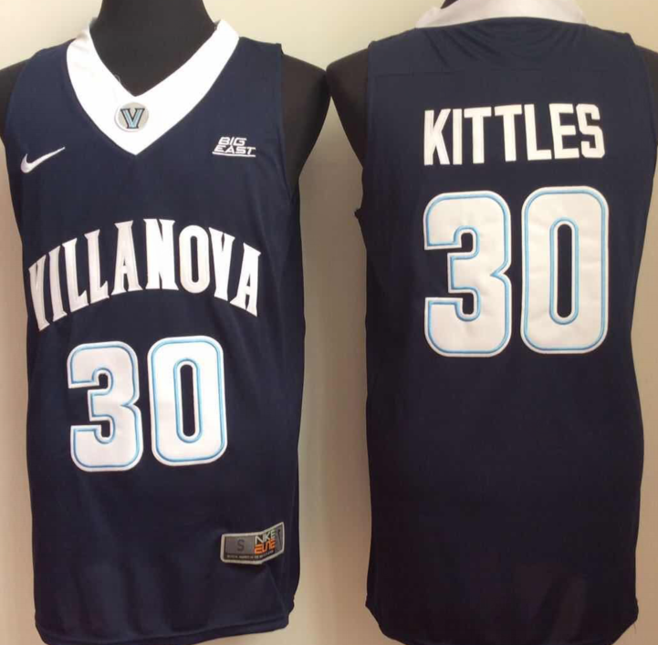 NCAA Men Villanova Wildcats Blue 30 kittles