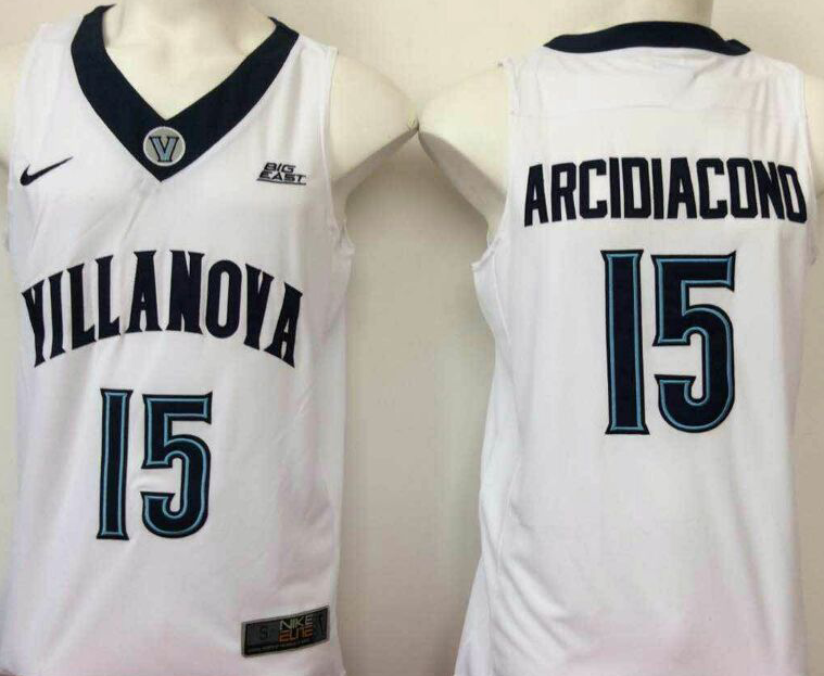 NCAA Men Villanova Wildcats White 15 Arcidiacond