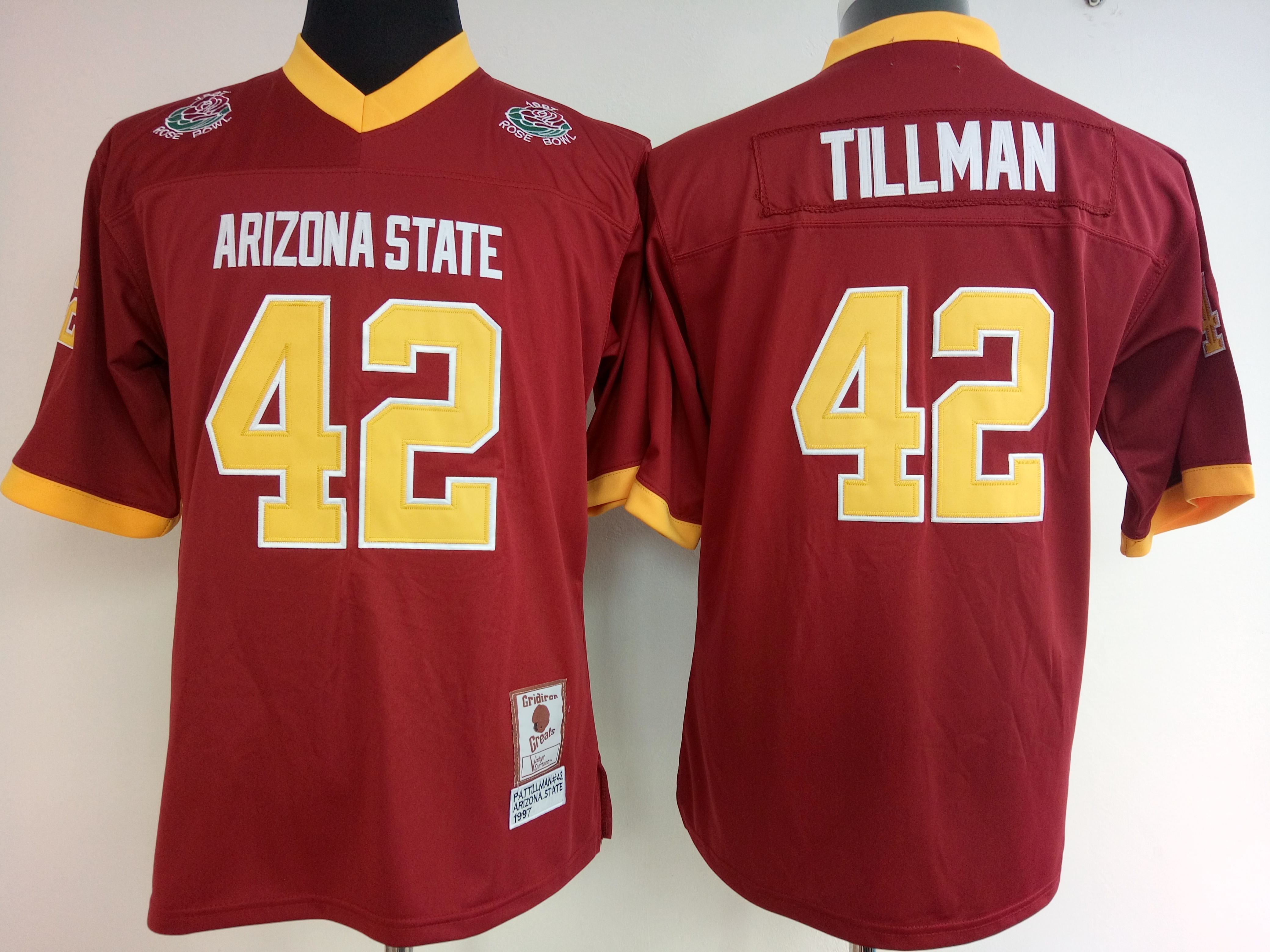 NCAA Womens Arizona State Sun Devils RED 42 Tillman jerseys