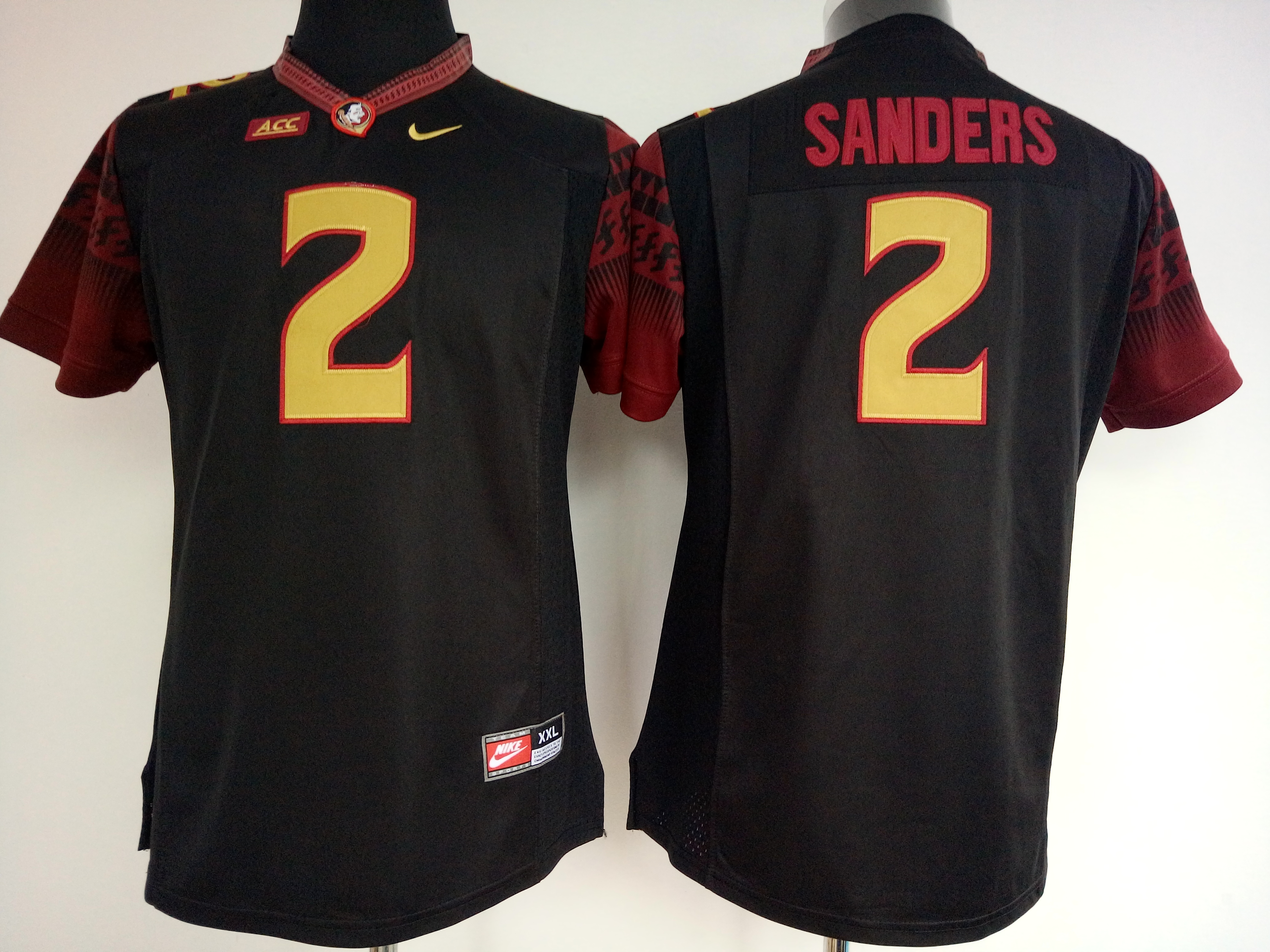 NCAA Womens Florida State Seminoles Black 2 Sanders jerseys
