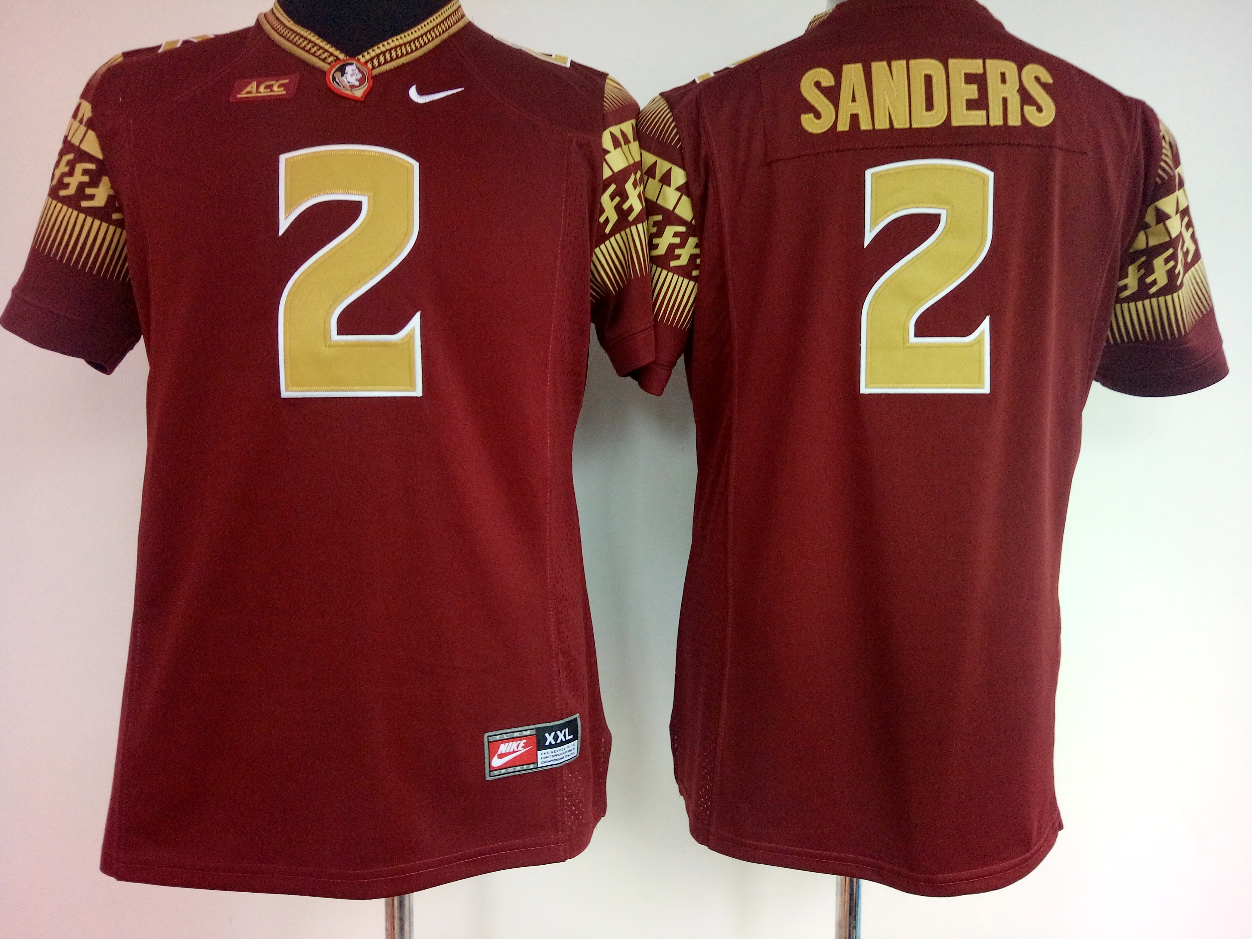 NCAA Womens Florida State Seminoles Red 2 Sanders jerseys
