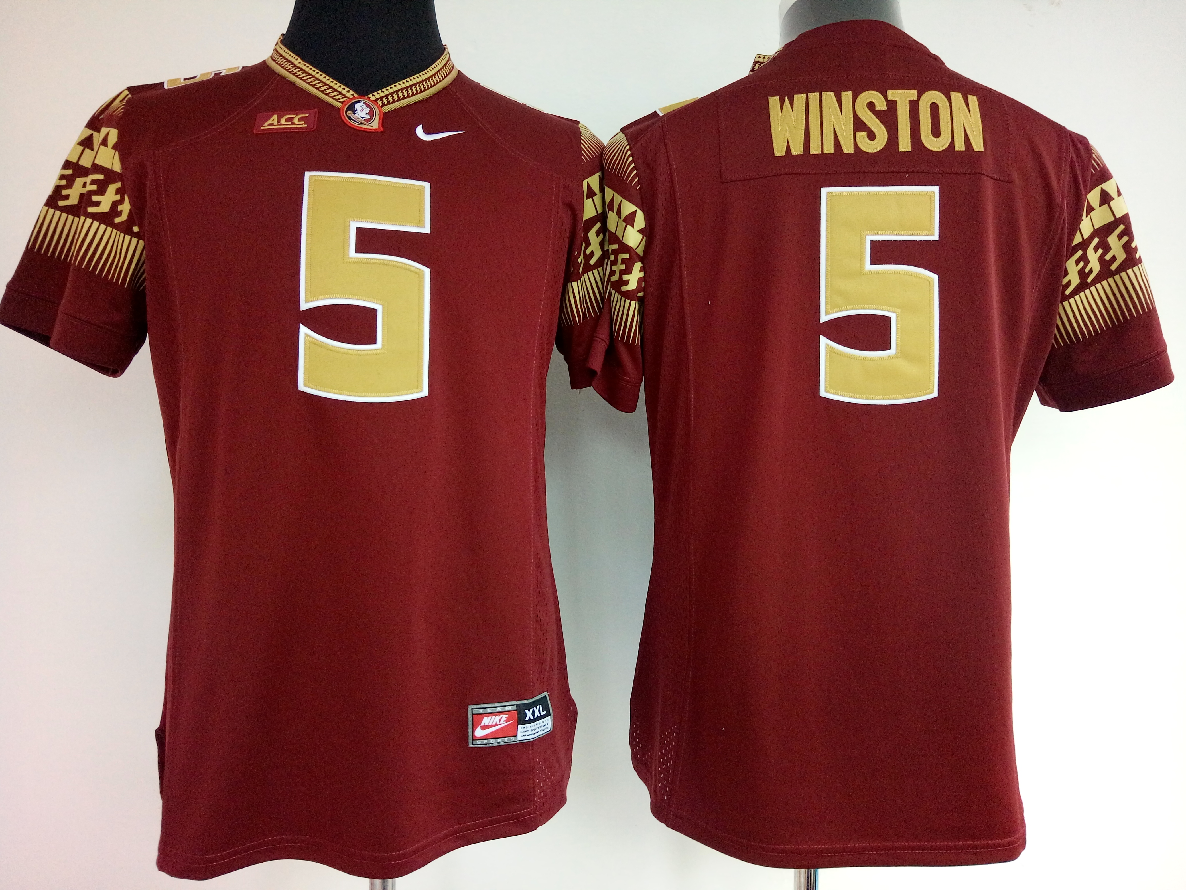 NCAA Womens Florida State Seminoles Red 5 Winston jerseys