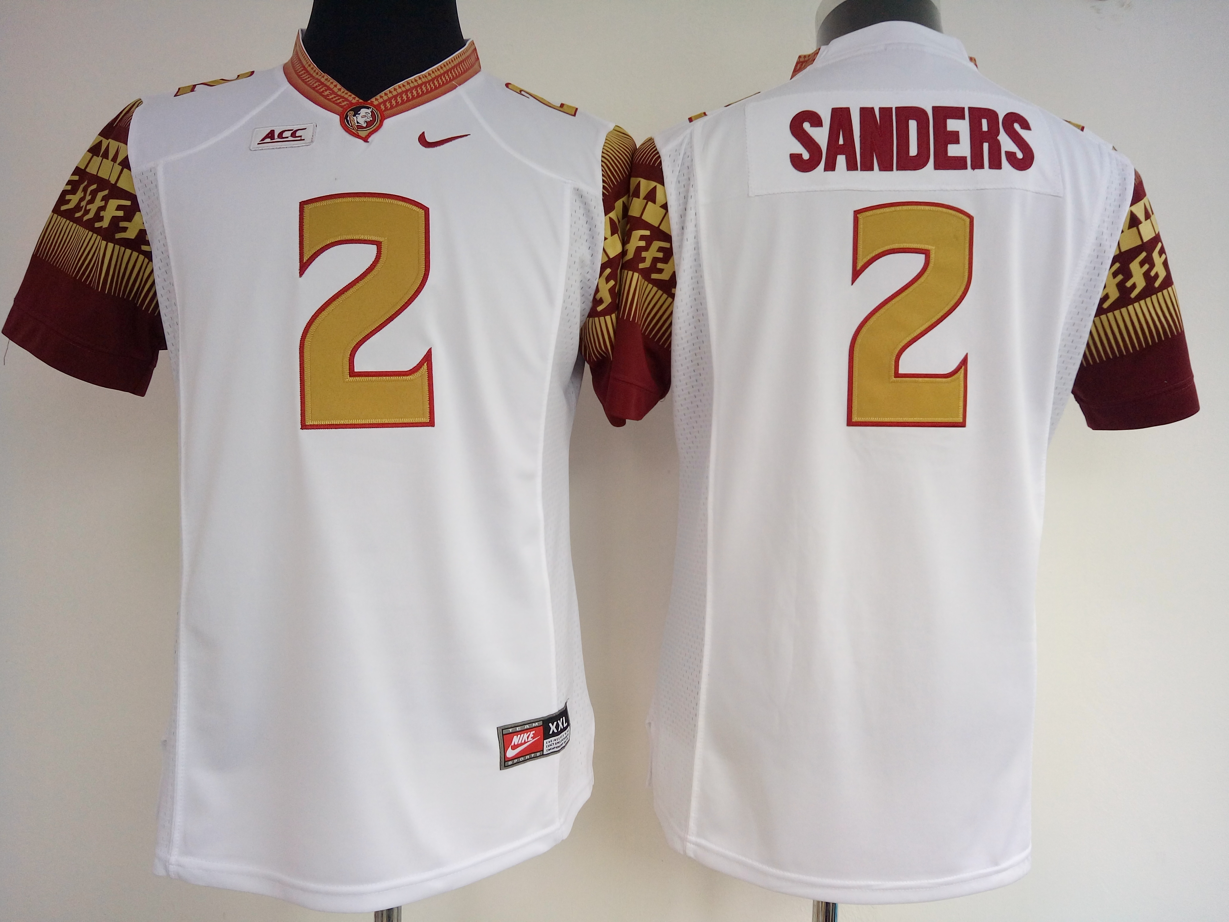 NCAA Womens Florida State Seminoles White 2 Sanders jerseys