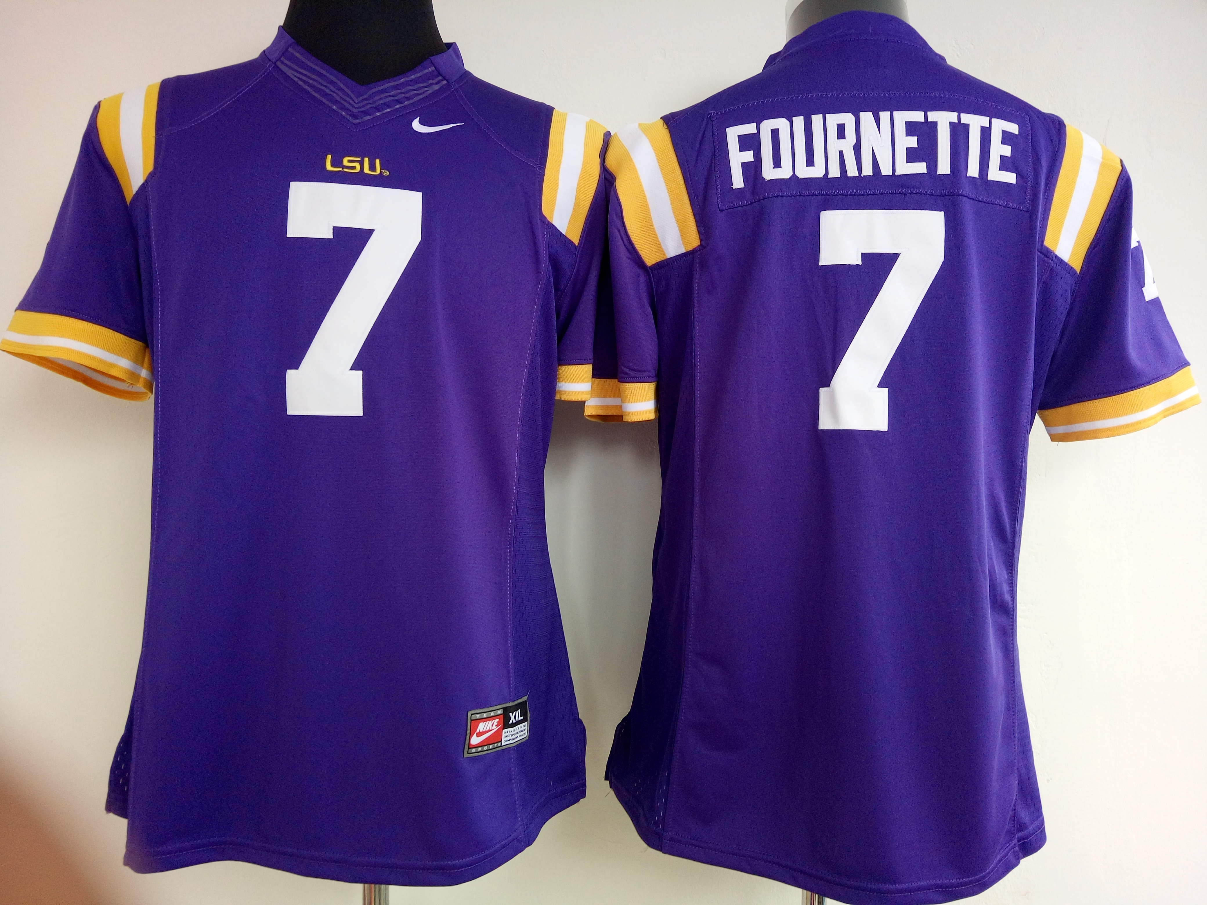NCAA Womens LSU Tigers Purple 7 Fournette jerseys