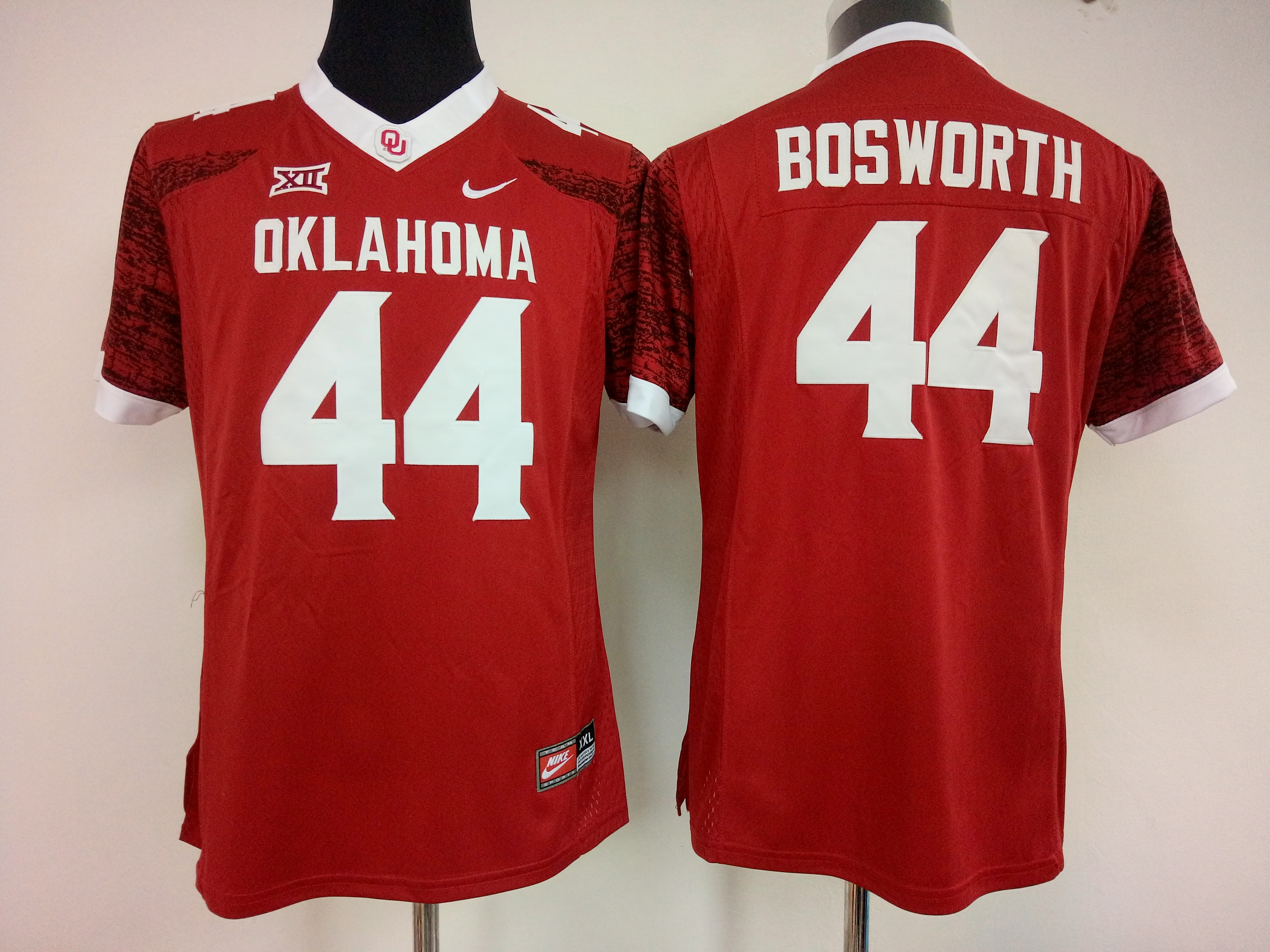 NCAA Womens Oklahoma Sooners Red 44 bosworth jerseys