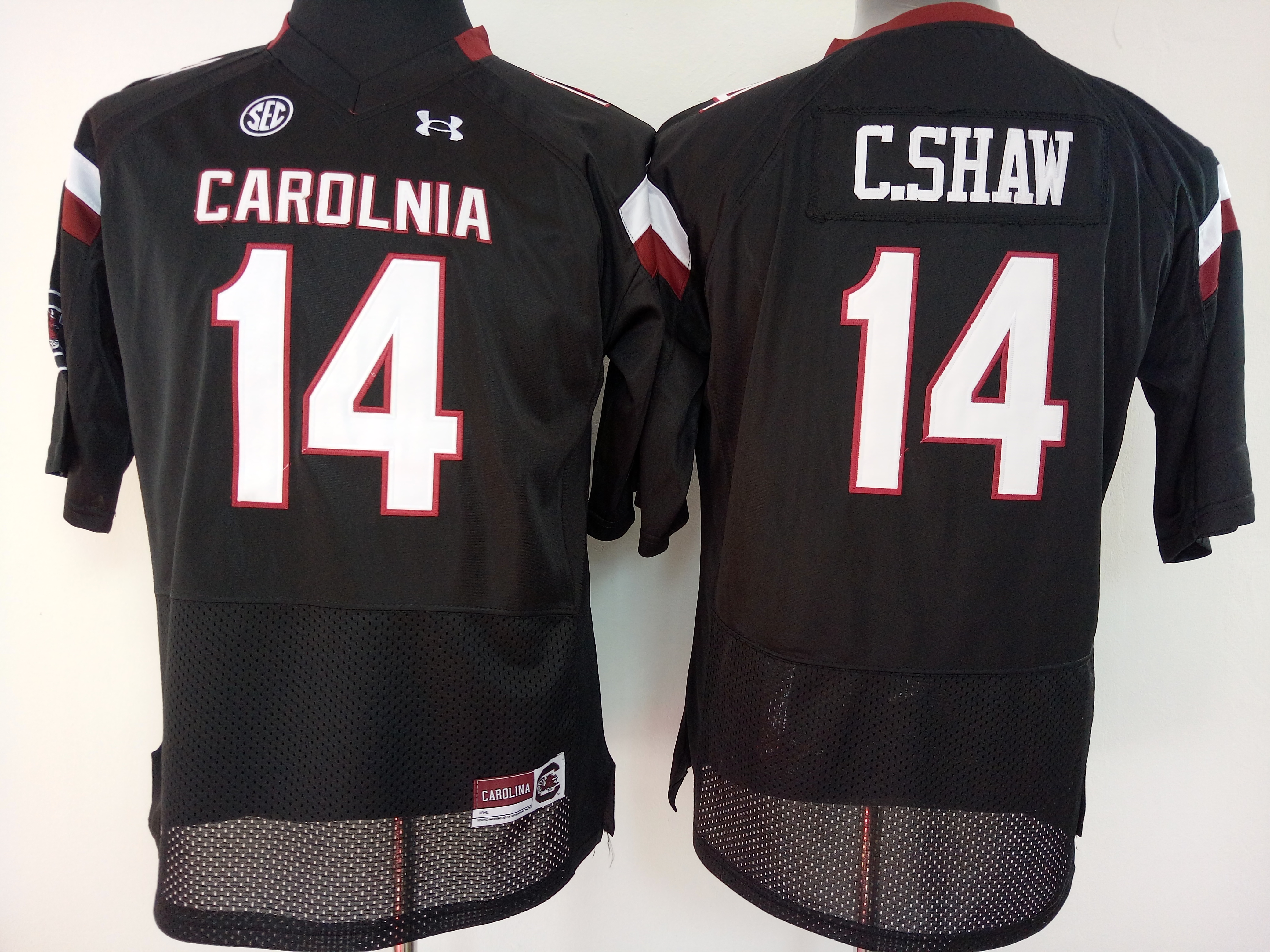 NCAA Womens South Carolina Gamecock Black 14 C shaw jerseys
