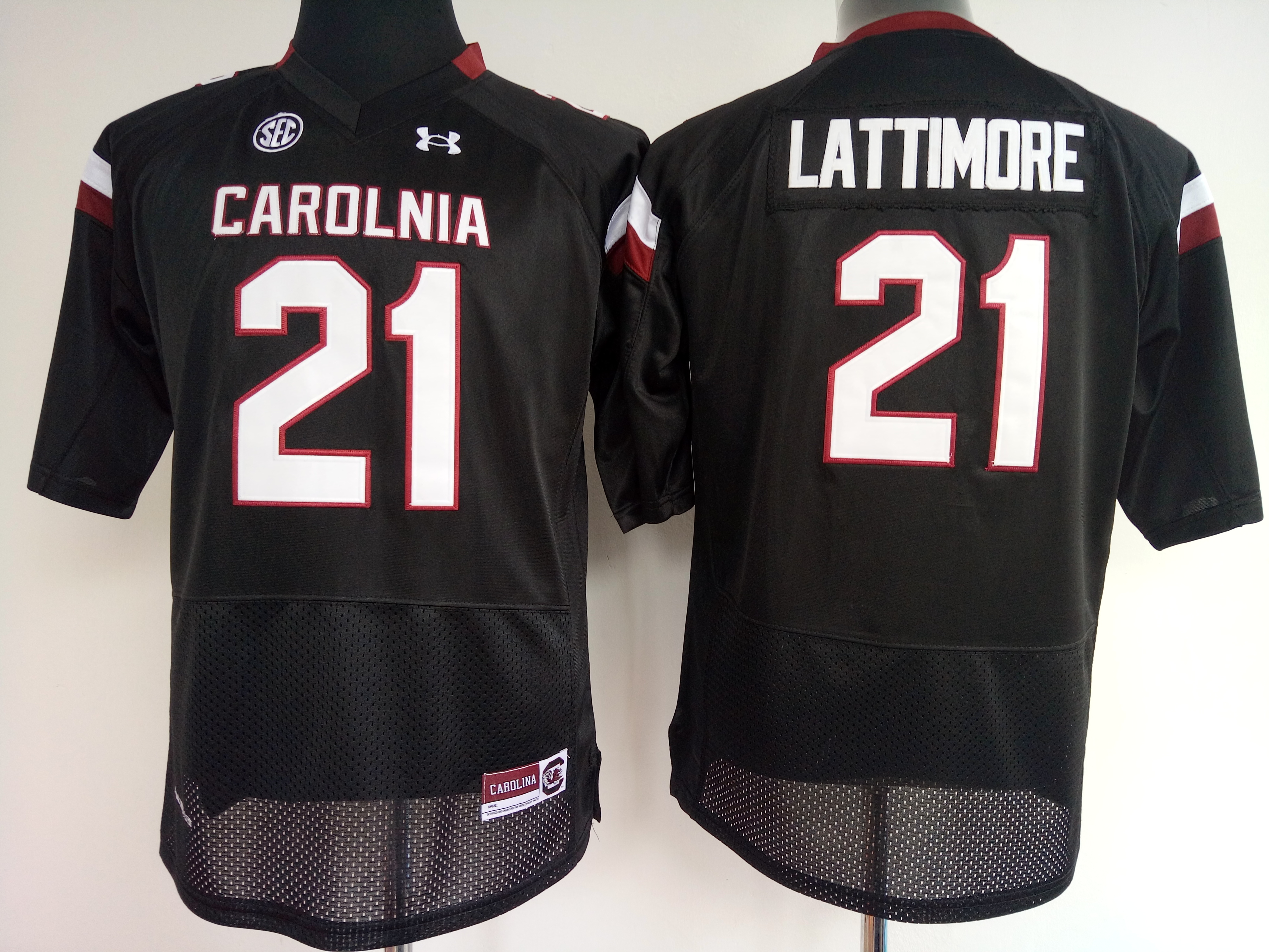 NCAA Womens South Carolina Gamecock Black 21 Lattimore jerseys