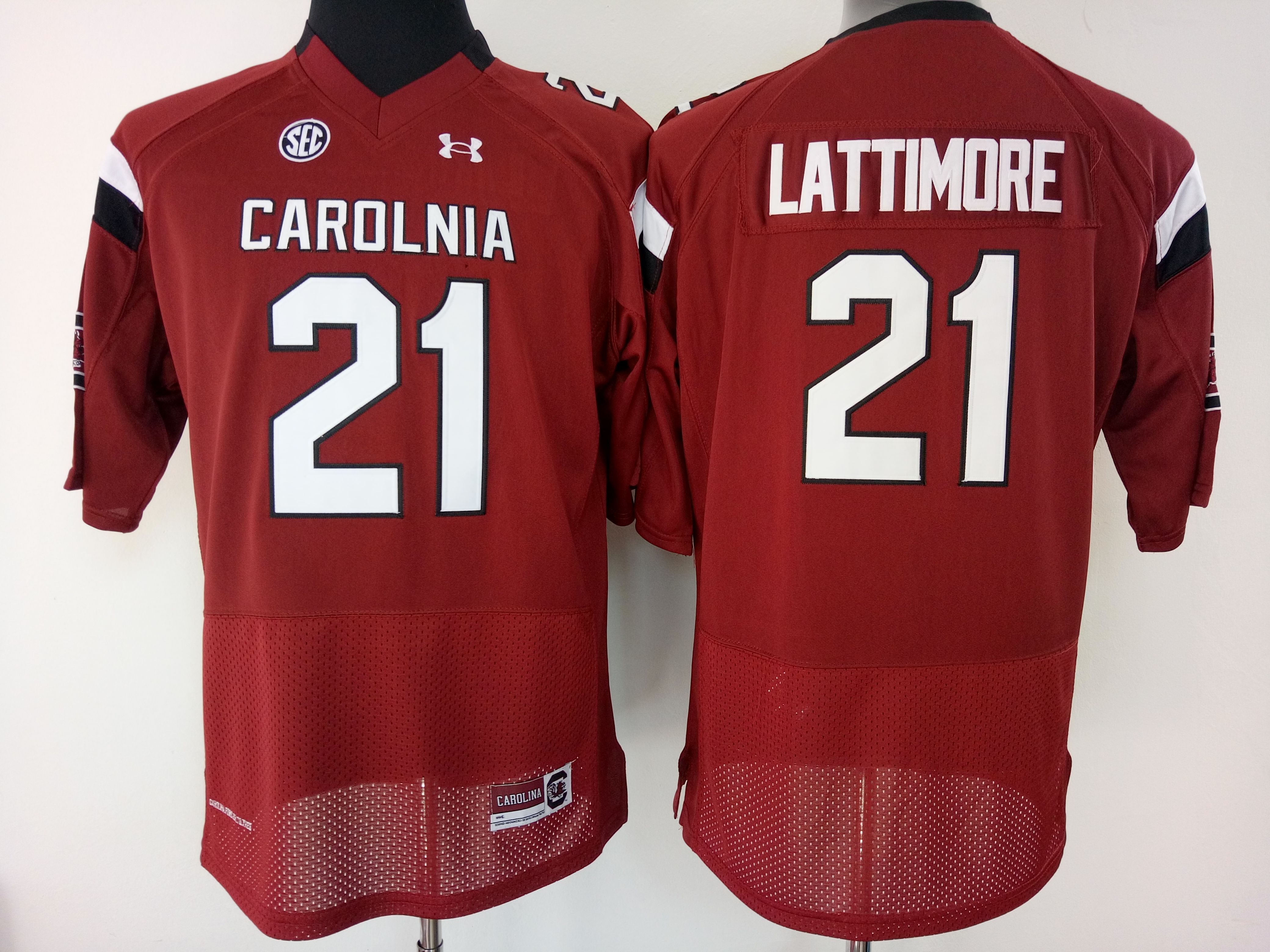 NCAA Womens South Carolina Gamecock Red 21 lattimore jerseys