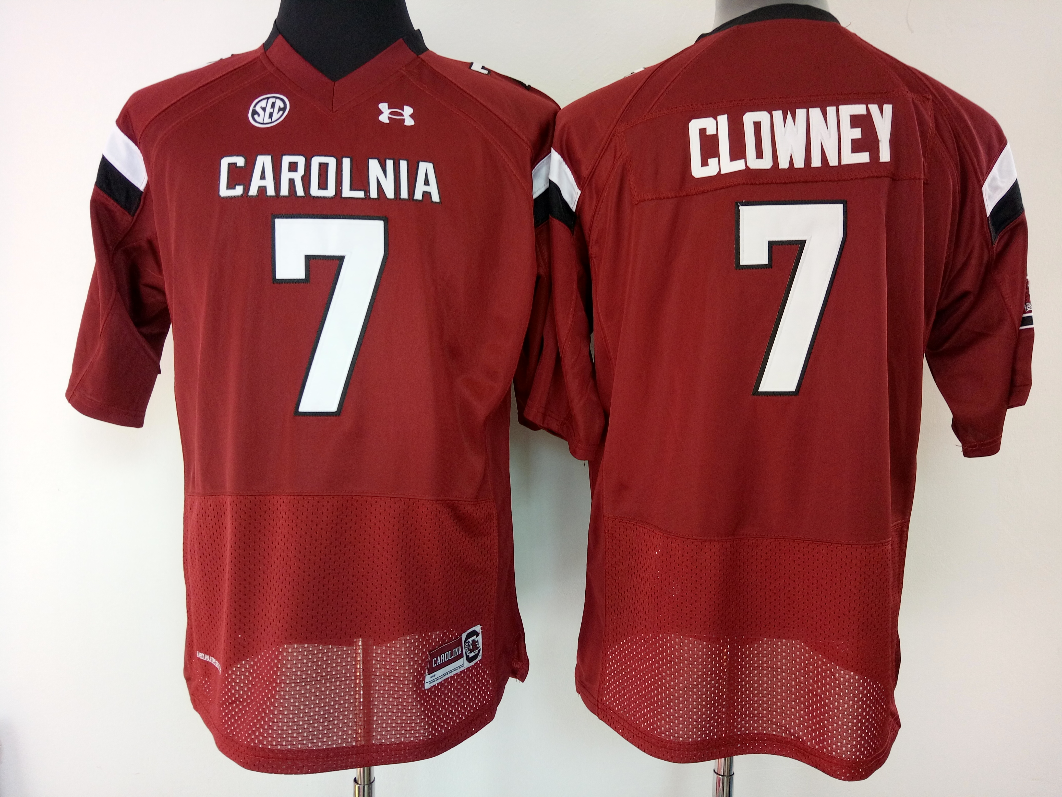 NCAA Womens South Carolina Gamecock Red 7 clowney jerseys
