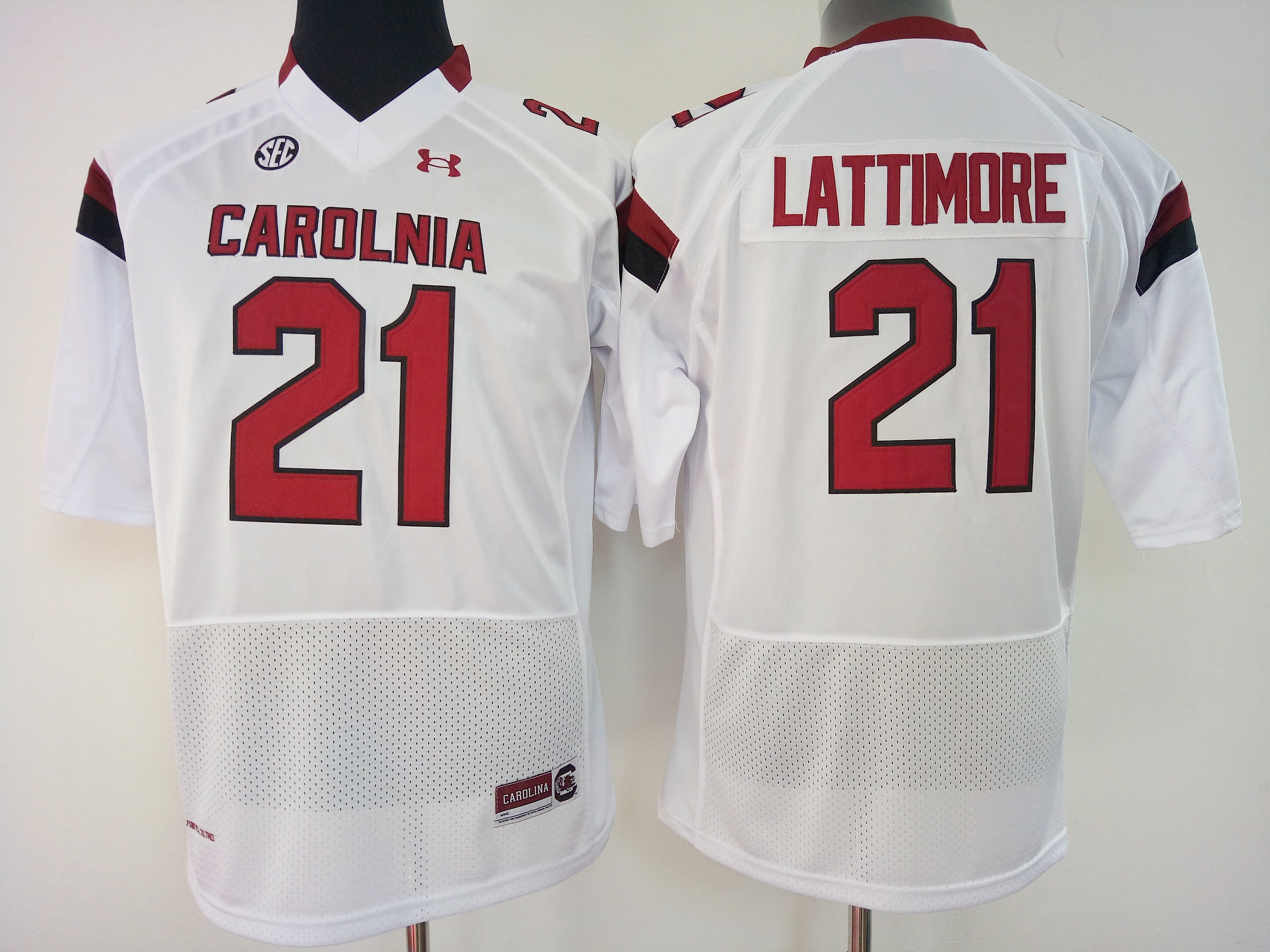 NCAA Womens South Carolina Gamecock White 21 lattimore jerseys