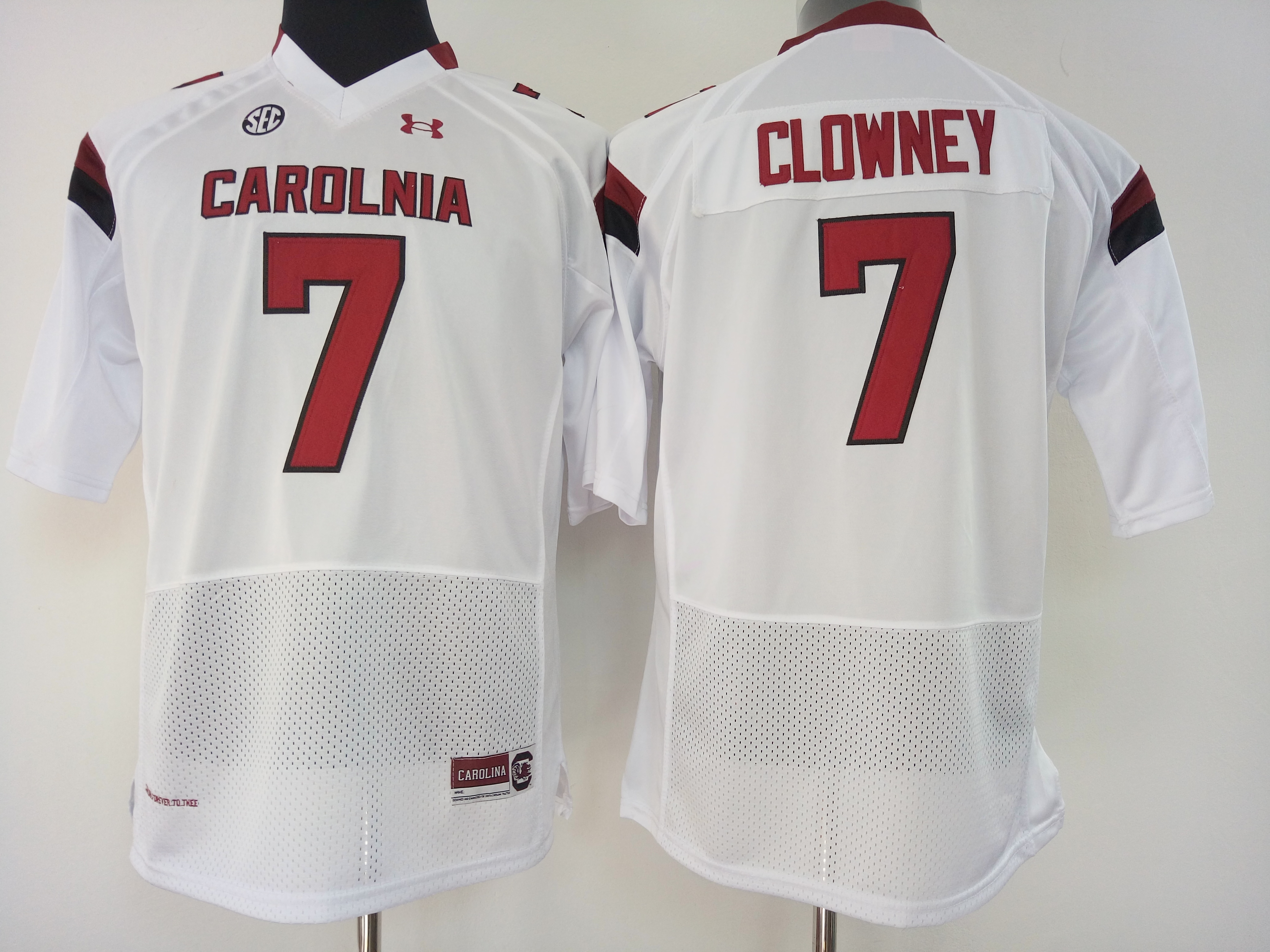 NCAA Womens South Carolina Gamecock White 7 clowney jerseys