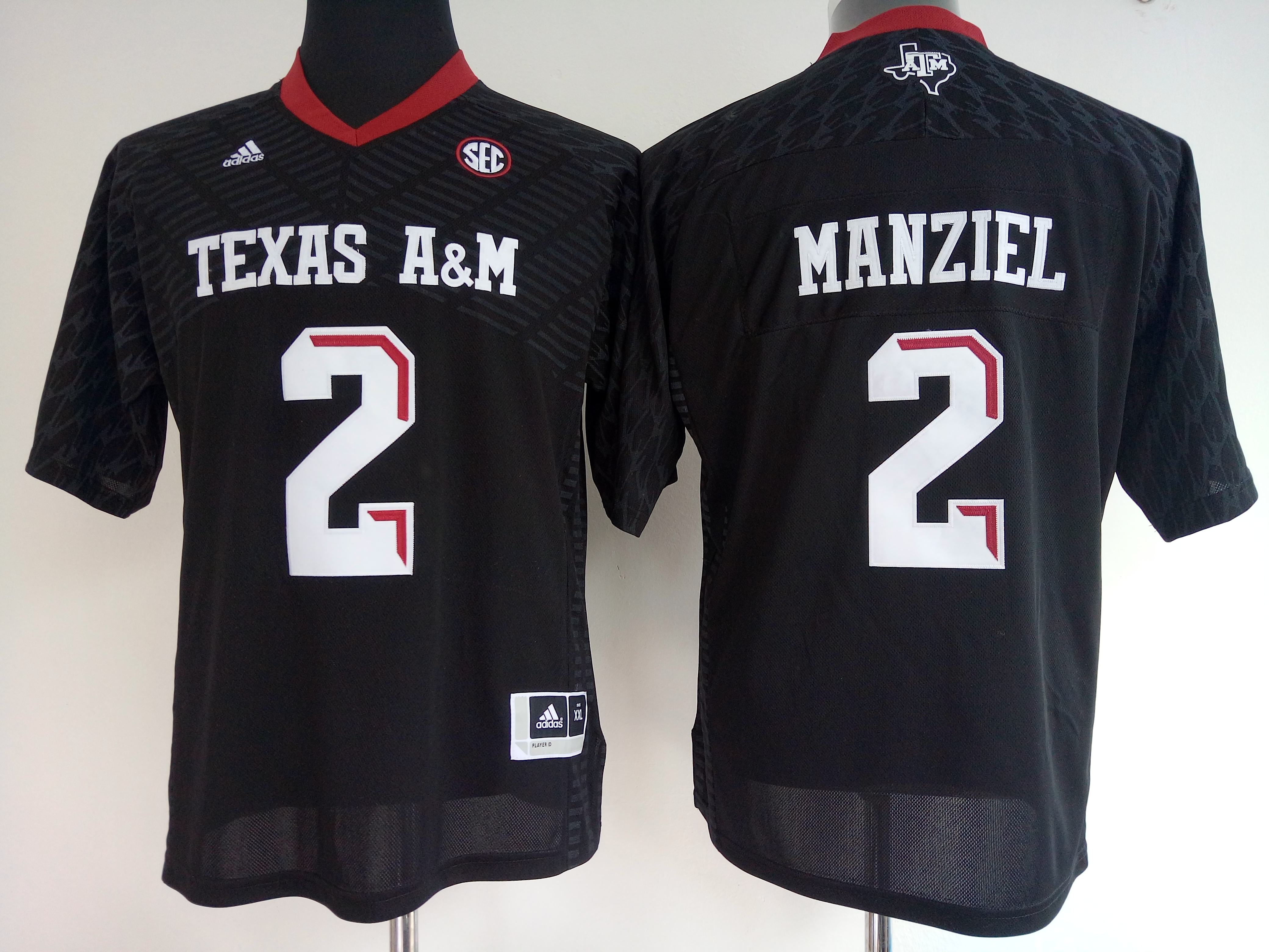 NCAA Womens Texas A&M Aggies Black 2 manziel jerseys