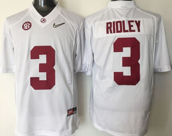 NCAA Youth Alabama Crimson Tide 3 Ridley white jerseys