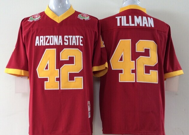 NCAA Youth Arizona State Sun Devils Red 42 Tillman jerseys