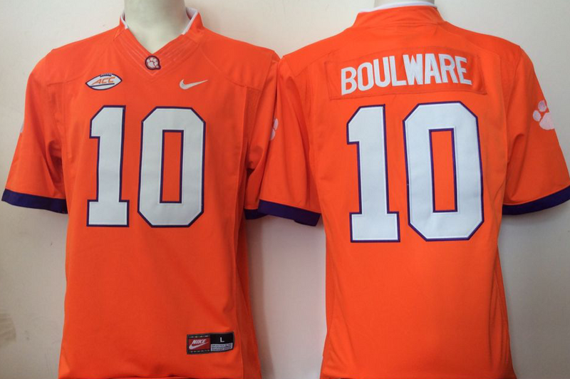 NCAA Youth Clemson Tigers 10 Boulward orange jerseys