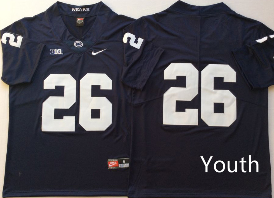 NCAA Youth Penn State Nittany Lions Blue 26 BARKLEY jerseys