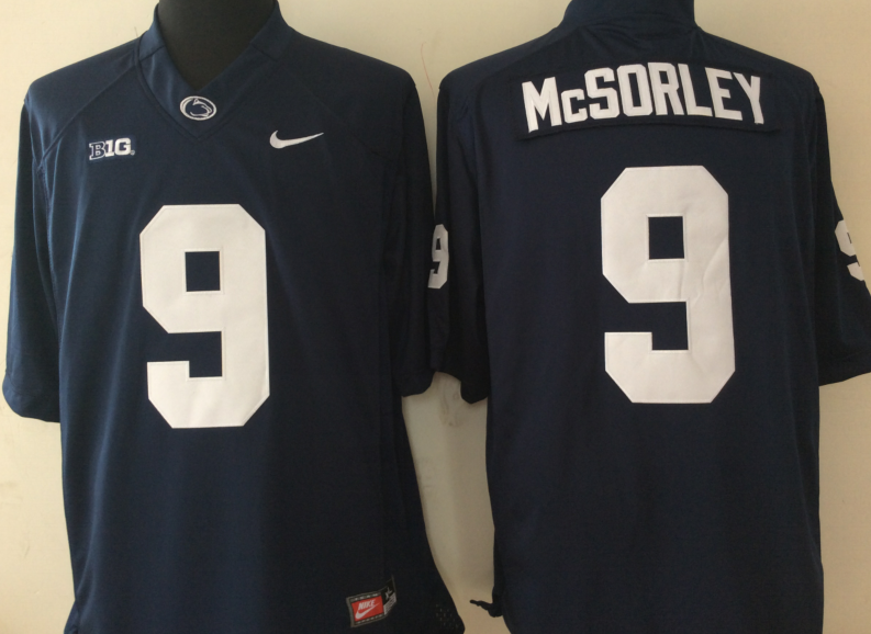 NCAA Youth Penn State Nittany Lions Blue 9 MCSORLEY jerseys