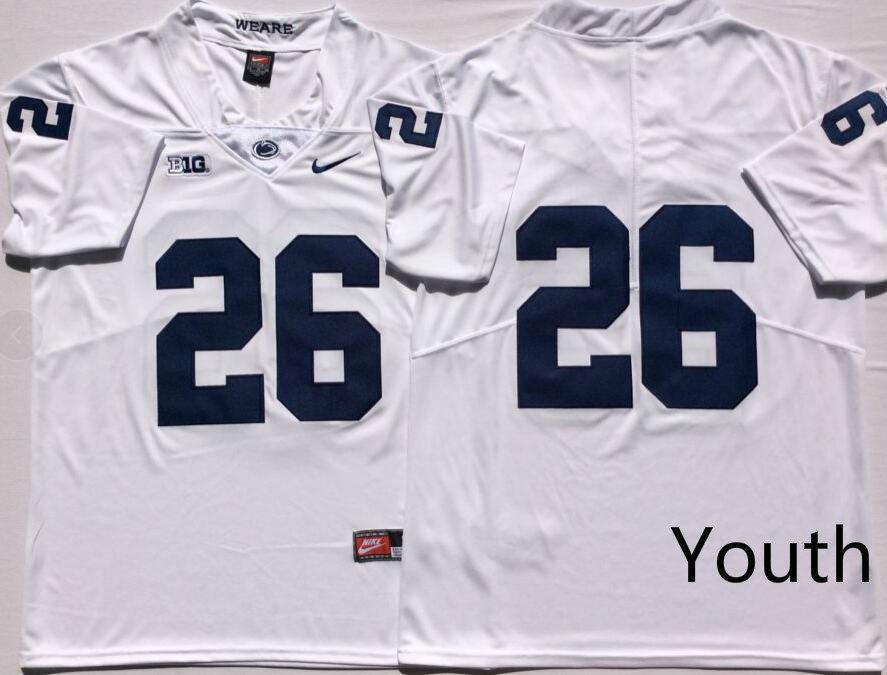 NCAA Youth Penn State Nittany Lions White 26 BARKLEY jerseys