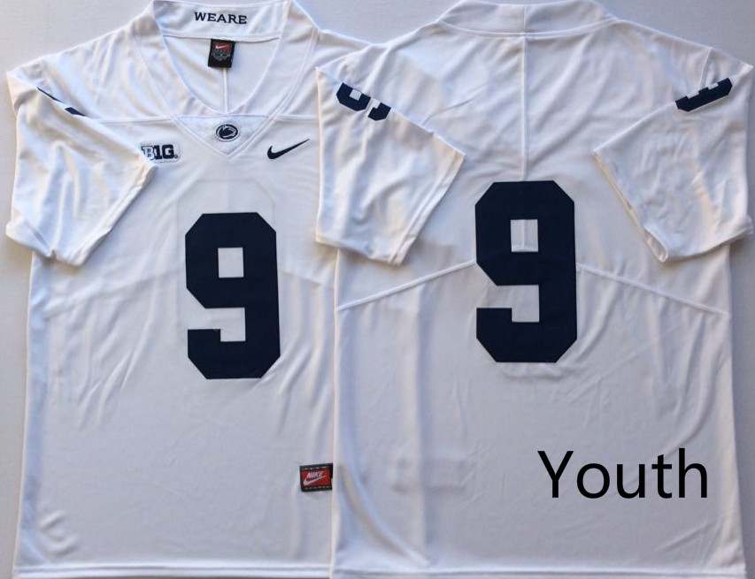 NCAA Youth Penn State Nittany Lions White 9 MCSORLEY blank name jerseys