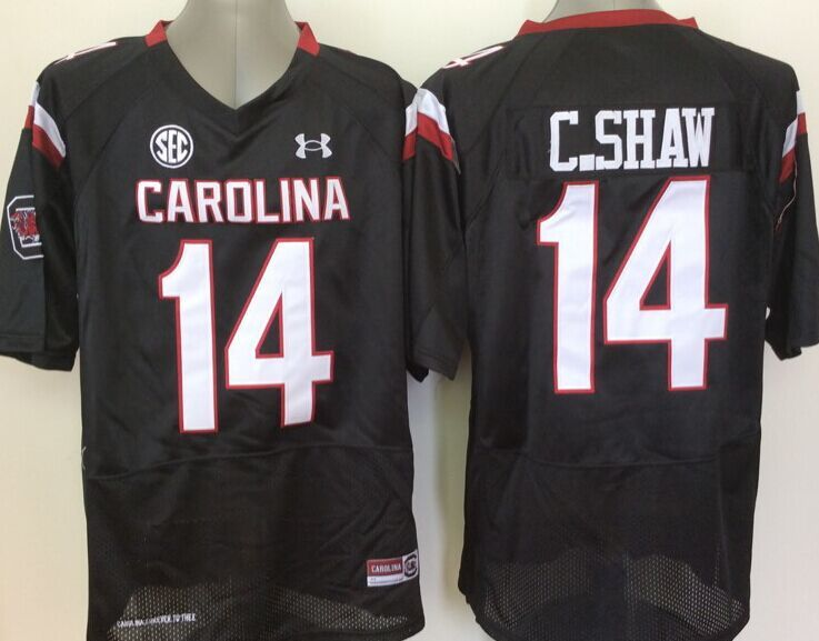 NCAA Youth South Carolina Gamecock Black 14 C Shaw jerseys