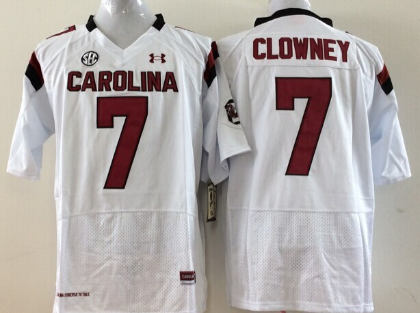 NCAA Youth South Carolina Gamecock White 7 Clowney jerseys