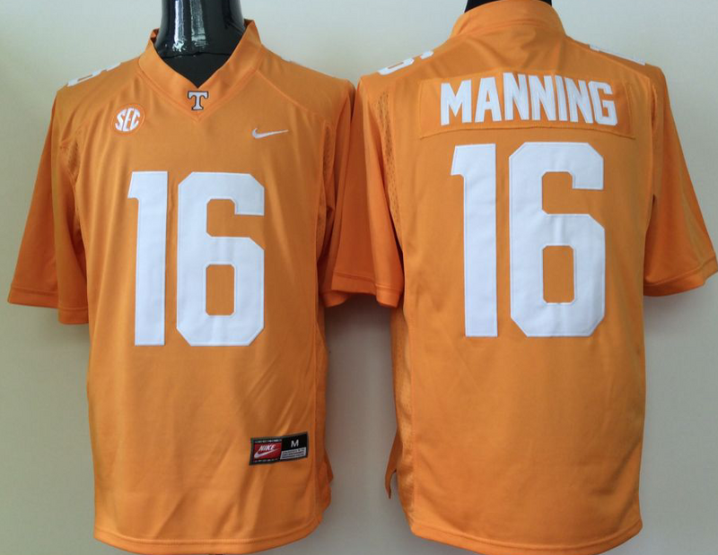 NCAA Youth Tennessee Volunteers Orange 16 Manning yellow jerseys