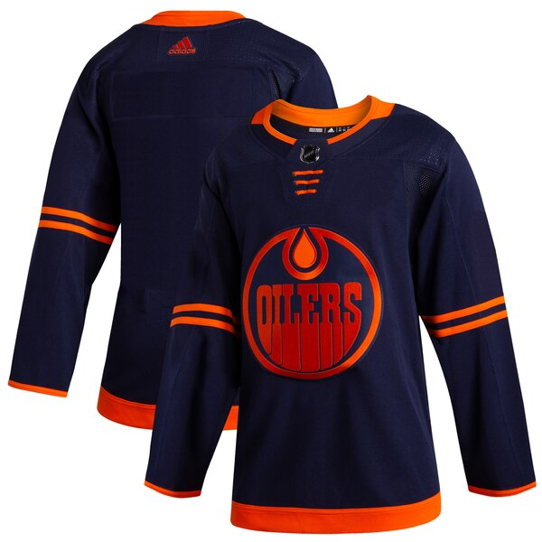 Customized Men Edmonton Oilers Blank Navy Alternate Home Stitched NHL Jersey