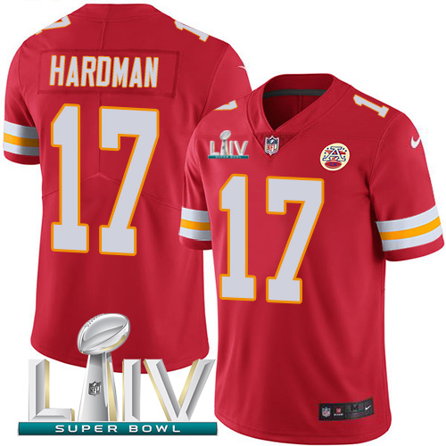Kansas City Chiefs Nike 17 Mecole Hardman Red Super Bowl LIV 2020 Team Color Youth Stitched NFL Vapor Untouchable Limited Jersey