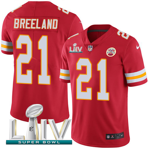 Kansas City Chiefs Nike 21 Bashaud Breeland Red Super Bowl LIV 2020 Team Color Youth Stitched NFL Vapor Untouchable Limited Jersey