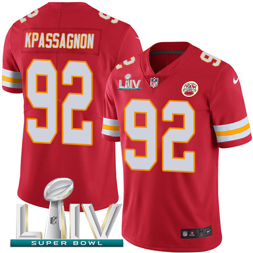 Kansas City Chiefs Nike 92 Tanoh Kpassagnon Red Super Bowl LIV 2020 Team Color Youth Stitched NFL Vapor Untouchable Limited Jersey