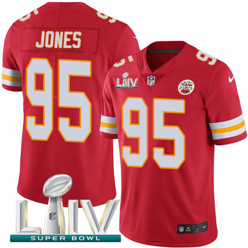 Kansas City Chiefs Nike 95 Chris Jones Red Super Bowl LIV 2020 Team Color Men Stitched NFL Vapor Untouchable Limited Jersey