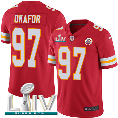 Kansas City Chiefs Nike 97 Alex Okafor Red Super Bowl LIV 2020 Team Color Youth Stitched NFL Vapor Untouchable Limited Jersey